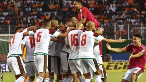 Morocco celebrate reaching the World Cup