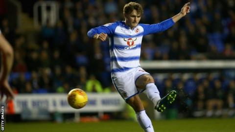 John Swift opens the scoring for Reading against Nottingham Forest