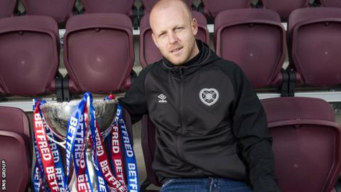 Hearts forward Steven Naismith is looking forward to taking on Celtic