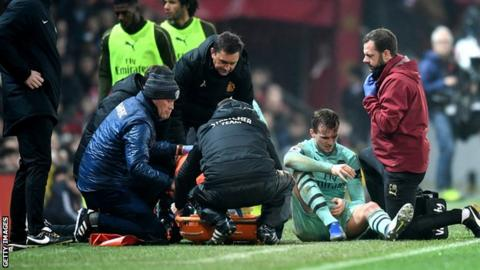 Arsenal boss Holding out hope defender's injury is not too serious