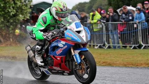 Derek McGee was a comfortable winner of the Supersport race