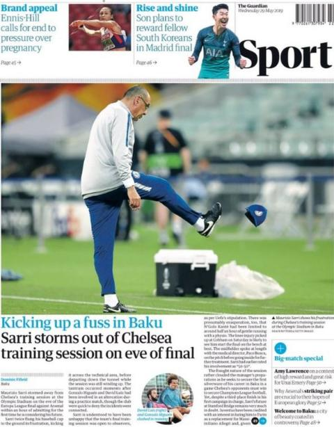 Guardian back page: Kicking up a fuss in Baku