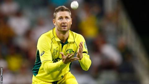 Michael Clarke takes a catch