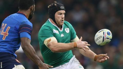 Ireland will without Sean O'Brien for the quarter-final on Sunday