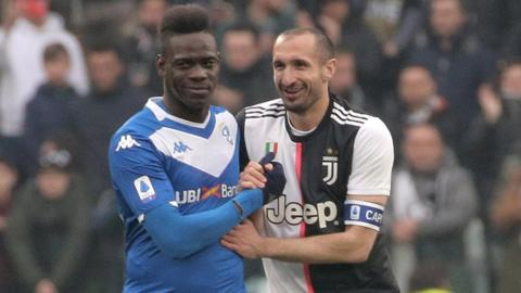 Mario Balotelli and Giorgio Chiellini