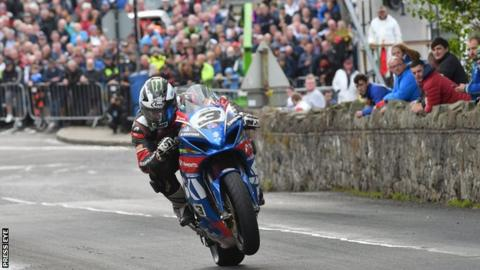 Michael Dunlop in action at last year's Armoy Road Races