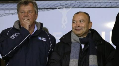 RFU chief executive Ian Ritchie and England coach Eddie Jones