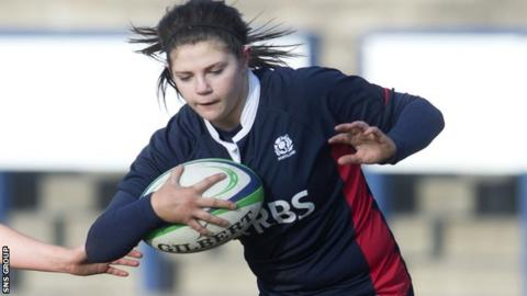 Scotland try-scorer Lisa Thomson