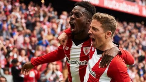 Williams (left) broke into the Athletic Bilbao first team in 2014