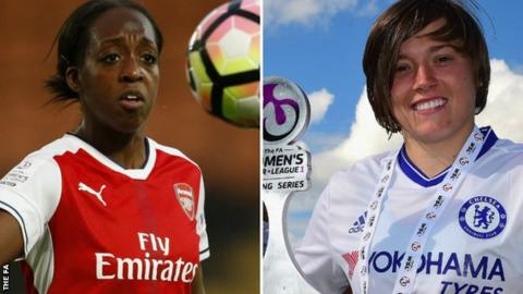 Danielle Carter (left) and Fran Kirby