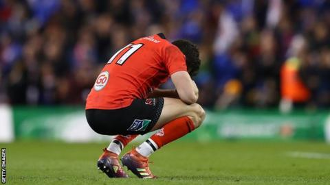 Stockdale was dejected at the final whistle of Ulster's Champions Cup quarter-final loss to Leinster