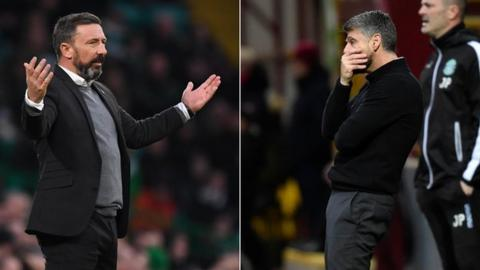 Aberdeen and Motherwell are in joint third place but have been in poor form
