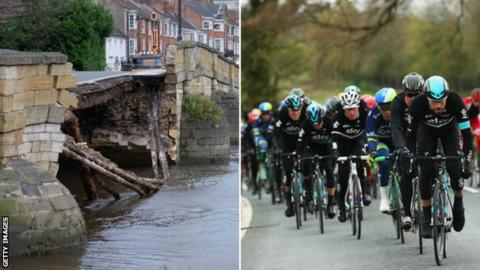 Stage two of the Tour de Yorkshire will start on the now fixed Tadcaster bridge