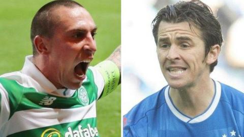 Celtic's Scott Brown and Rangers' Joey Barton