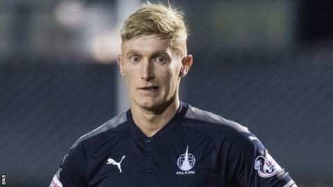 Craig Sibbald in action for Falkirk