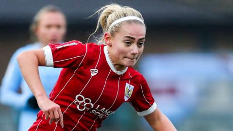 Charlie Estcourt attacks for Bristol City