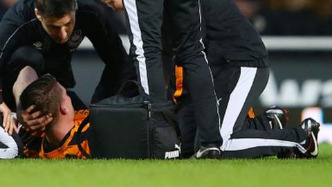 Bjorn Sigurdarson was injured at West Ham in January - just two games into his Wolves comeback