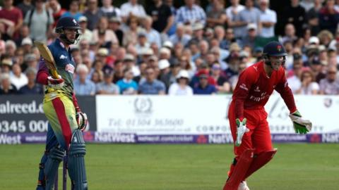 Alex Blake was out cheaply in the T20 quarter-final defeat by eventual winners Lancashire.