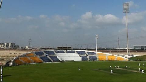 The Zayed Cricket Stadium in Abu Dhabi