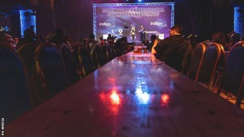 Empty seats at the BDO world darts championship
