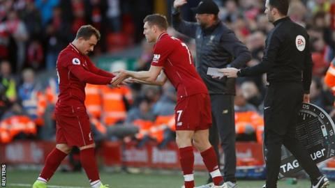 James Milner comes off the bench against Fulham on Sunday
