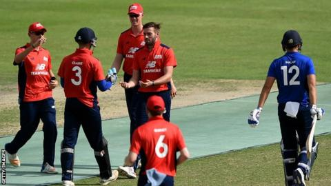 The three-match series is designed as a warm-up for county cricket's 50-over competition