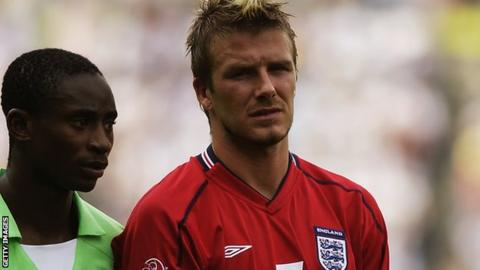 Femi Opabunmi and David Beckham