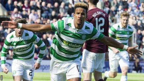 Celtic's Scott Sinclair celebrates