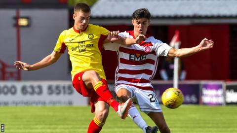 Lewis Mansell (left) in action for Partick Thistle against Hamilton
