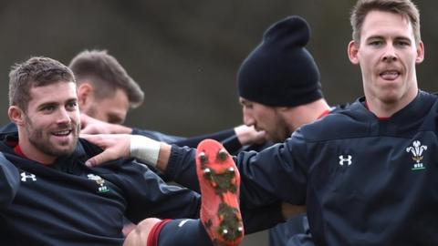 Leigh Halfpenny and Liam Williams