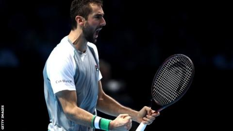 Cilic beats Isner, gets first victory at ATP Finals