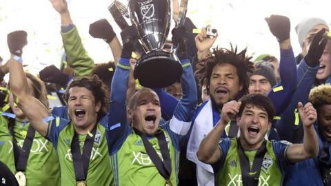 Seattle celebrate MLS Cup win