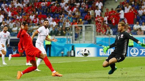 Tunisia 1-1 England