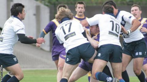 Toulouse take on Gateshead Thunder in their initial stint in the British rugby league set-up