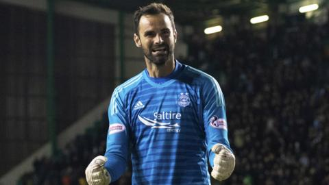 Aberdeen goalkeeper Joe Lewis