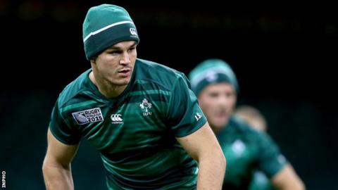 Johnny Sexton trained with his Ireland team-mates on Friday