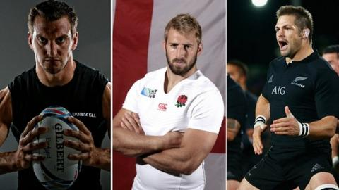 Left to right: Sam Warburton, Chris Robshaw, Richie McCaw