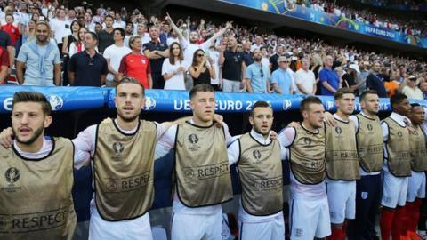 England bench