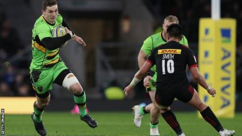 George North makes a break for Northampton Saints against Harlequins