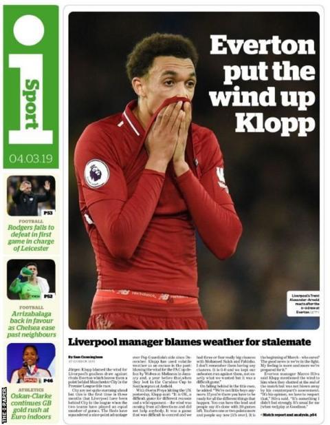 Monday's i Sport back page