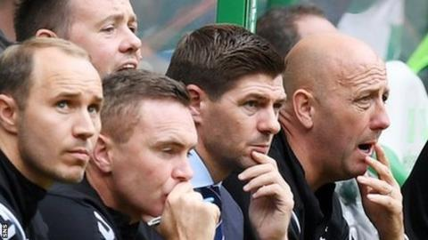 Steven Gerrard has won one and lost one against Celtic this season.