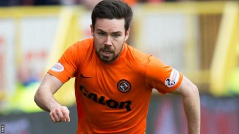 Ryan Dow in action for Dundee United