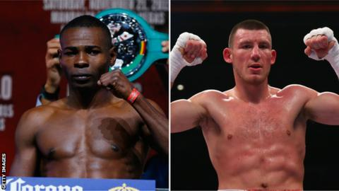 Guillermo Rigondeaux (L) and Liam Williams (R) are both fighting in Cardiff on Saturday