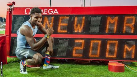 American sprinter Noah Lyles