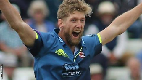 Kent seam bowler Calum Haggett