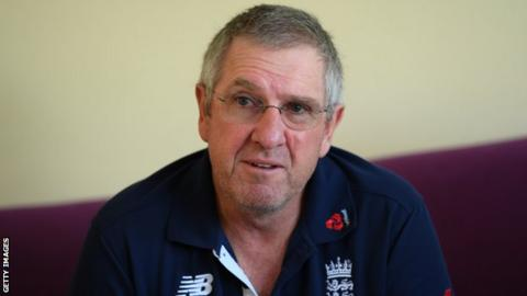 England coach Trevor Bayliss speaks to the press at a news conference