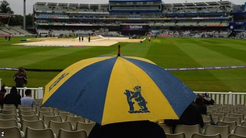 Rained off for the day at Edgbaston