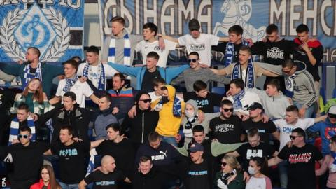 A crowd of 1,750 people watched the Minsk derby at the weekend