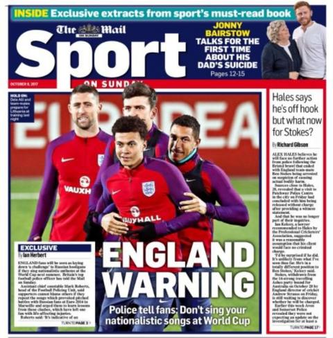 Sunday's back pages - BBC Sport