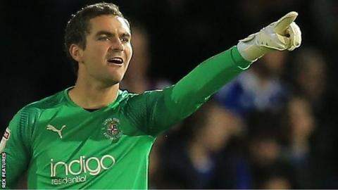 Luton goalkeeper James Shea